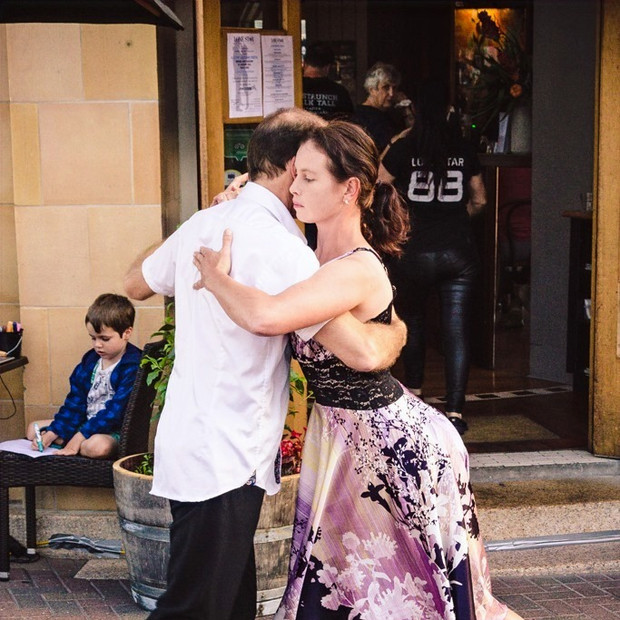 Laura Sykes and visiting Tango instructor, John Flower