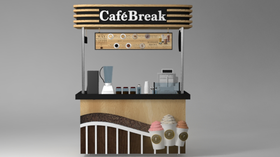 Coffee Stand (FRONT VIEW)