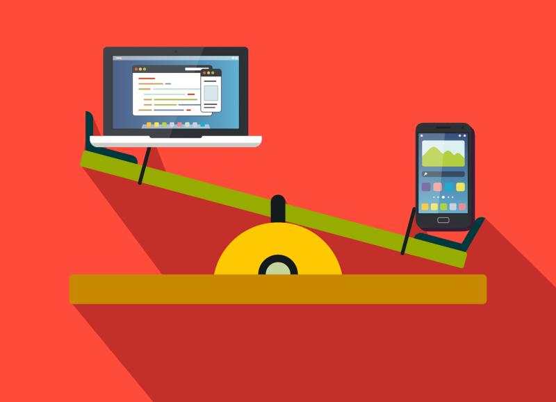 Desktop x Mobile - Marketing Digital