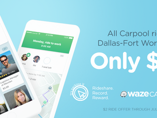 Waze Carpool Launches Pilot Program Offering $2 Trips in Dallas-Fort Worth