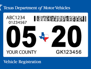 Texas Vehicle Registration and Inspection Requirements Under COVID-19
