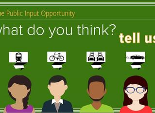 Public Input Opportunity
