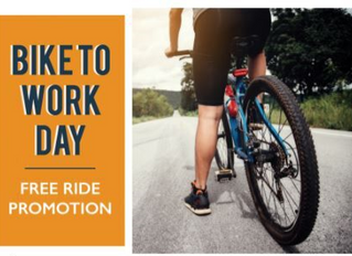 Ride DCTA Free When You 'Bike to Work' On Friday, May 17