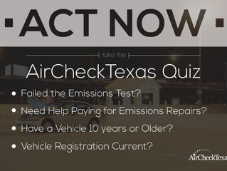 AirCheckTexas Emissions Repair on New Vehicle Voucher