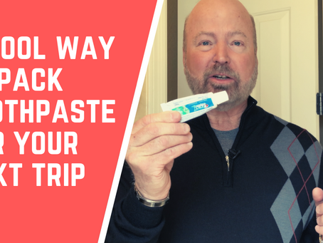 VIDEO - A Cool Way to Bring Toothpaste for Your Next Trip