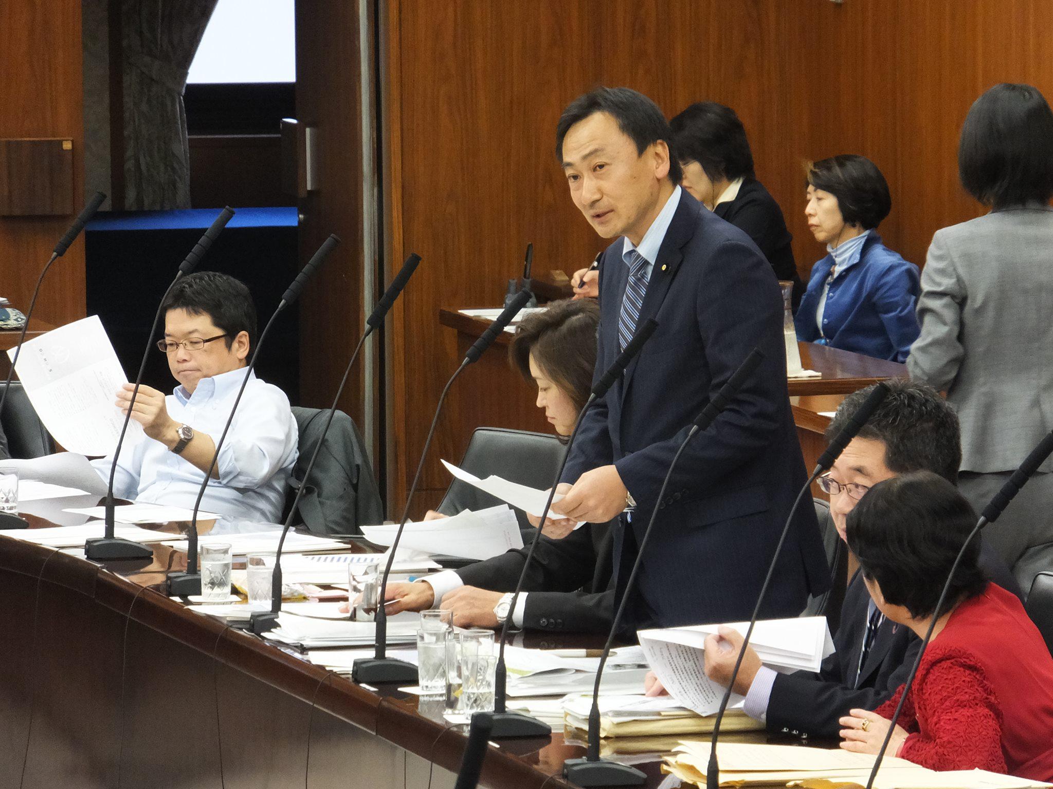 2014.10.16 参議院厚生労働委員会にて質問を行いました