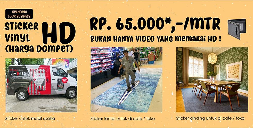 Promo sticker vinyl