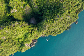 Our Emerald Cave swim through to a pirates' treasure hideaway beach!