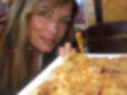 Travel Queen owner Mel with Thai pancake