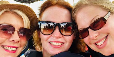 Christina, Bex and Hana in Khao Sok, Thailand