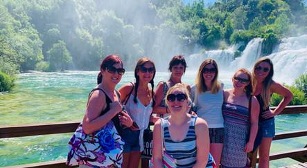 Rachel and the girls at Krka National Park, Croatia