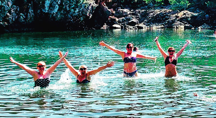 Cooling off in lake, Croatia