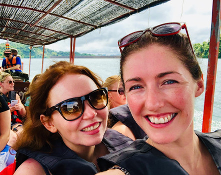 Bex and Carly in Khao Sok, Thailand