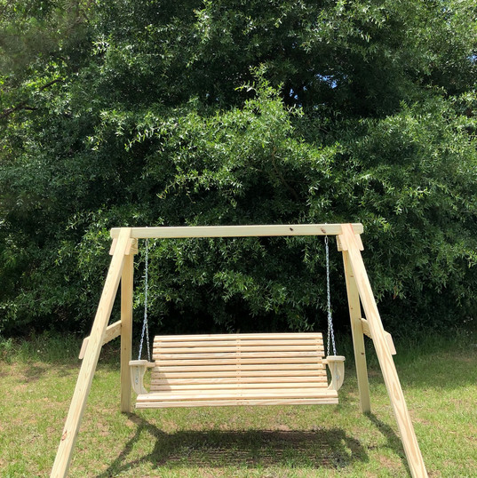 A Frame Swing Set