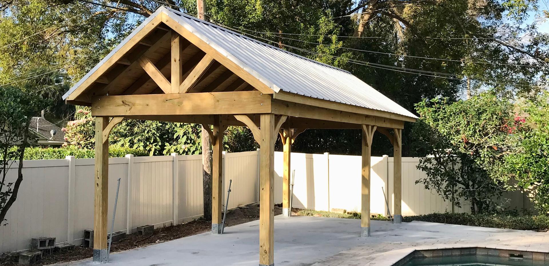 12 x 24 Open Gable Pavilion