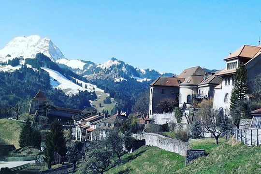 Gruyères Medieval Town - view from the castle