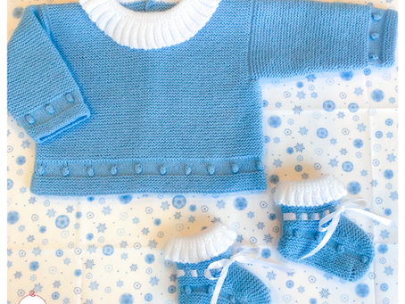 Ready to start knitting a cuddly baby outfit for the winter time?