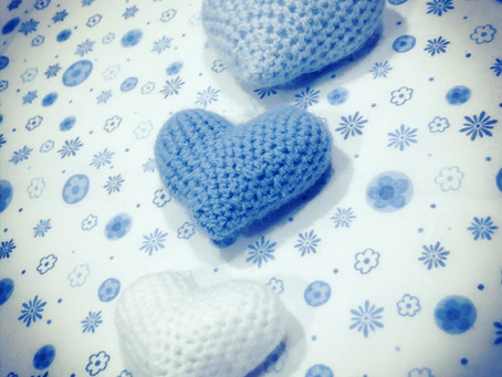 Corazones de crochet