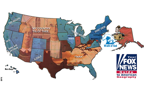 Fox News Keeping Americas Idiots Informed - Fox news us map