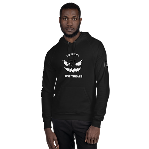 No Tricks Just Treats Black Unisex Fleece Hoodie