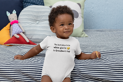 The best place to be when you're sad is Grandma's lap Onesie T-Shirt