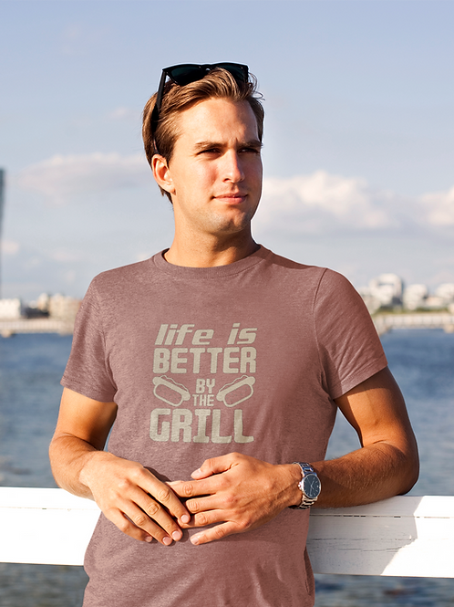 Life Is Better By The Grill Jersey Short Sleeve Tee