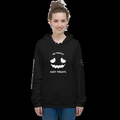No Tricks Just Treats Black Unisex Fleece Hoodie
