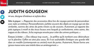 Judith Gougeon - Déco en cavale