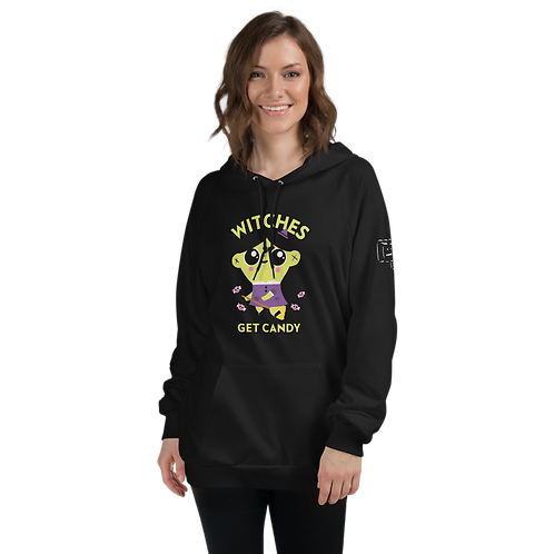 Witches Get Candy Black Unisex Fleece Hoodie