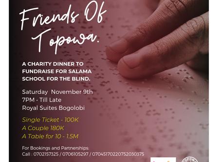 Topowa to Host Charity Dinner.