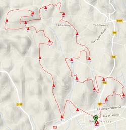 Trace du parcours de 20km