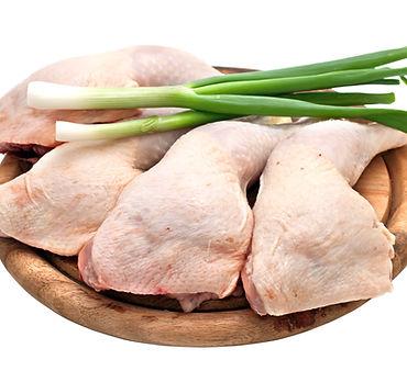 Chicken leg quarters isolated on white background..jpg