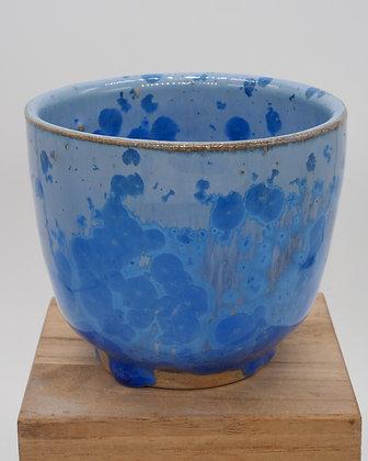 Blue Crystal stoneware cup. Crystal glaze 125 ml