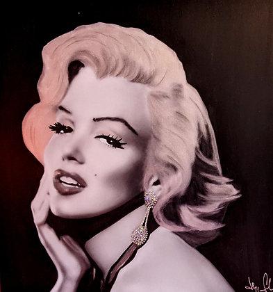 """""""Marilyn Monroe"""" silver edition by Hayo Sol"""