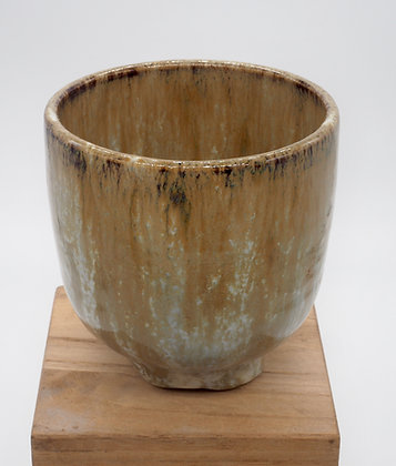 Marbled Cream stoneware cup. Double glaze 125 ml