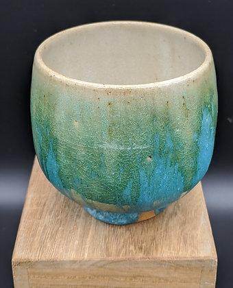 """Seaweed"" stoneware cup. Double glazing. 125 ml"