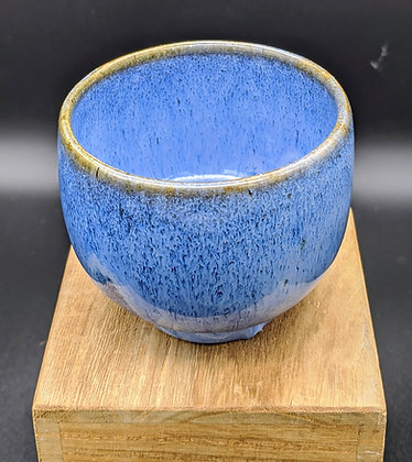 """""""Blue Hare"""" stoneware cup. Double glazing. 80 ml"""