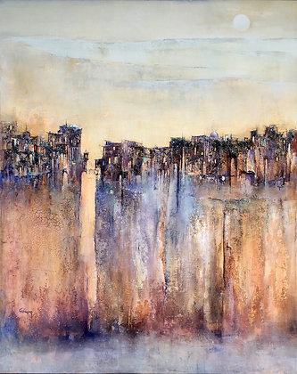 """The Brave Walk Across The Fineline Bridge"" by Christa Hillekamp"