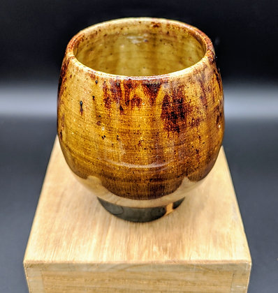 """Burnt Caramel"" stoneware cup. Double glazing. 70 ml"