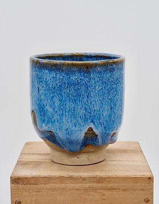 """Blue Fur"" stoneware cup. Single glazing. 60 ml"
