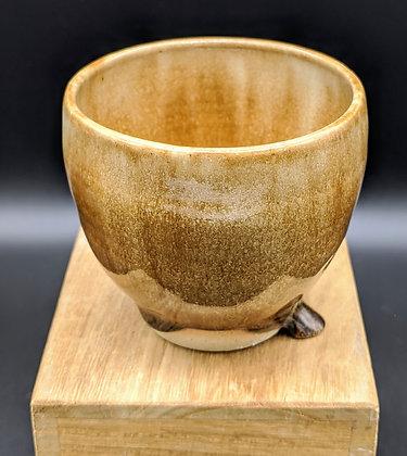 """Blue Honey"" stoneware cup. Double glazing. 100 ml"