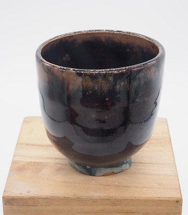 Blue Foam stoneware cup. Double glaze 50 ml