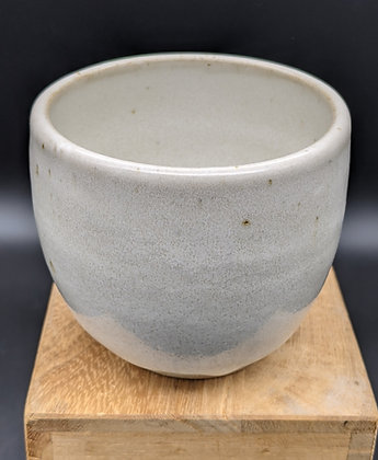 """White Shino"" stoneware cup. Single white glaze. 120 ml"