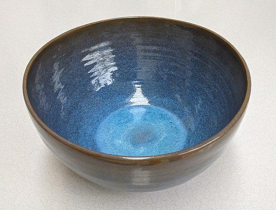 Large stoneware bowl.