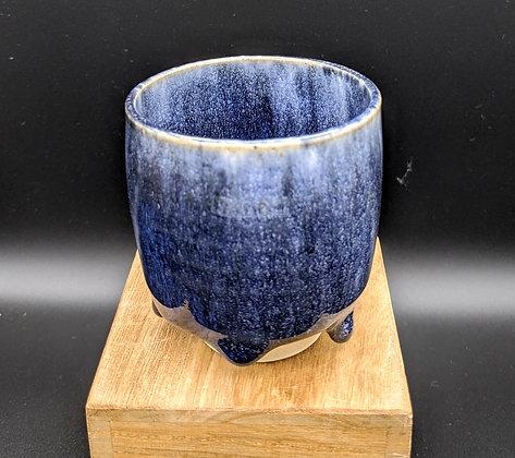 """Grape Salvation"" stoneware cup. Double glazing. 100 ml"