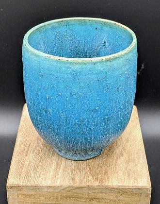 """Matte Copper"" glaze on stoneware cup. Single glazing. 80 ml"