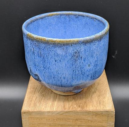 """Blue Hare"" stoneware cup. Single glazing. 135 ml"