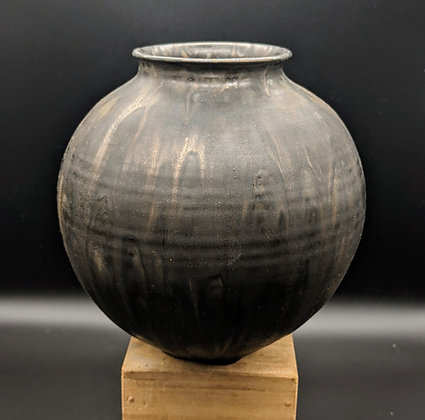 """Bronze metallic"" vase. Double glazing."