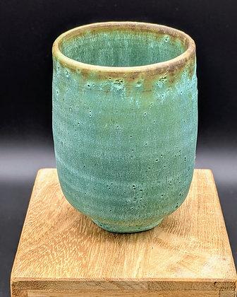 """Antique Bronze"" stoneware cup. Single glazing. 90 ml"