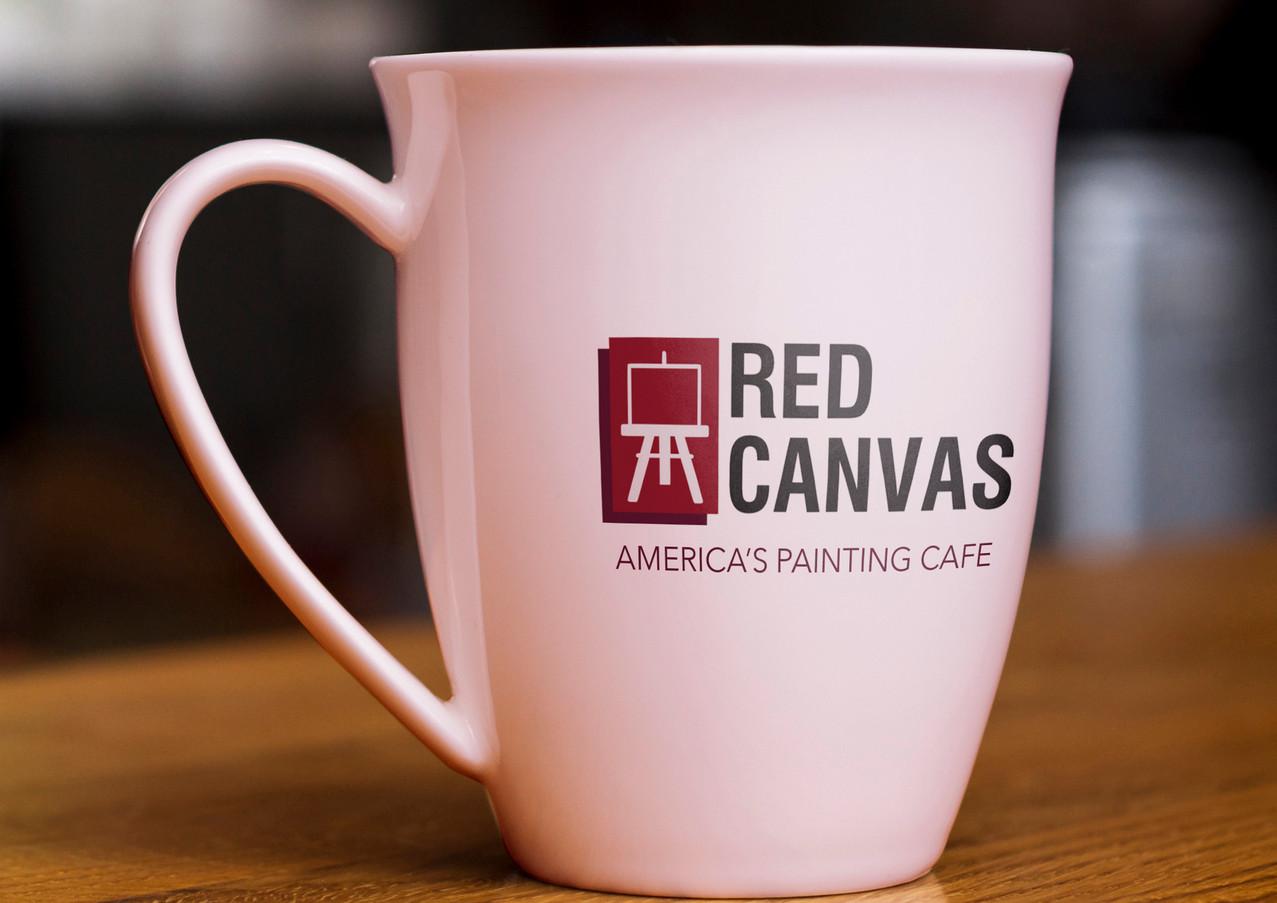 Red Canvas Mug